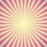 Fondo rojo del resplandor solar Vector Imagen de archivo libre de regalías