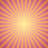 Fondo rojo del resplandor solar Vector Fotografía de archivo