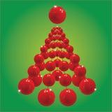 Fondo rojo del terr de la Navidad Ilustración del Vector