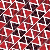 Fondo rojo del triángulo geométrico, ejemplo Imagen de archivo