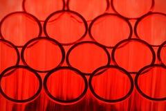 Fondo rojo del tubo de ensayo Imágenes de archivo libres de regalías