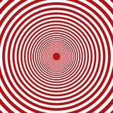 Fondo rojo del vector y blanco concéntrico de los elementos de los círculos de las rondas ilustración del vector
