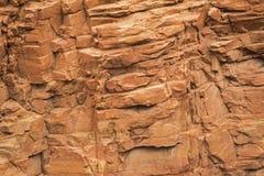 Fondo rojo del zion del acantilado de la formación de roca Fotos de archivo libres de regalías