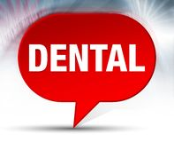 Fondo rojo dental de la burbuja stock de ilustración