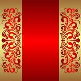 Fondo rojo elegante con las fronteras reales Fotos de archivo