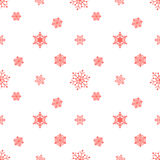 Fondo rojo en colores pastel del copo de nieve Fotografía de archivo libre de regalías