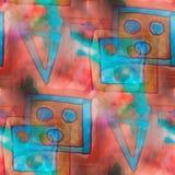 Fondo rojo, extracto azul del chapoteo del arte de la textura libre illustration