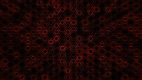 Fondo rojo futurista del extracto geométrico con hexágonos con los rayos ligeros libre illustration
