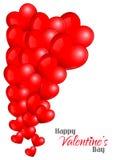 Fondo rojo hermoso de los corazones Fotografía de archivo libre de regalías