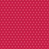 Fondo rojo inconsútil colorido lindo de los árboles del día de fiesta stock de ilustración
