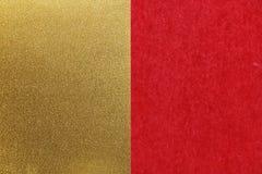 Fondo rojo japonés de la textura del papel del oro del Año Nuevo Imagenes de archivo