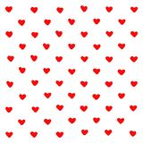 Fondo rojo lindo de la abstracción de los corazones Formas geom?tricas del coraz?n de la textura Para el modelo, tarjeta de felic stock de ilustración