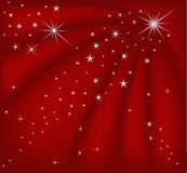 Fondo rojo mágico de la Navidad stock de ilustración