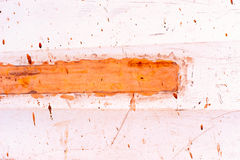 Fondo rojo marrón y anaranjado del extracto de la pintura stock de ilustración