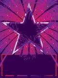Fondo rojo púrpura de la estrella Imágenes de archivo libres de regalías