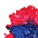 Fondo rojo pintado extracto de la acuarela Fotografía de archivo libre de regalías