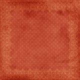 Fondo rojo sucio del marco de la Navidad Foto de archivo libre de regalías