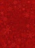 Fondo rojo sutil de la nieve Imagen de archivo libre de regalías