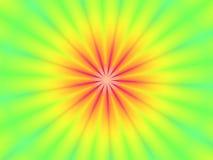 Fondo rojo verde del papel pintado de la falta de definición de la flor Imagen de archivo