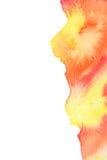 Fondo rojo vivo de la acuarela del amarillo anaranjado Fotos de archivo