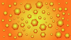 Fondo rojo y amarillo con formas geométricas Imagen de archivo