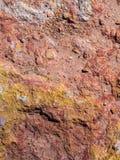 Fondo rojo y amarillo de la piedra arenisca foto de archivo libre de regalías