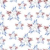 Fondo rojo y azul apacible inconsútil ilustración del vector