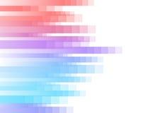 Fondo rojo y azul del extracto del pixel de la velocidad Fotografía de archivo