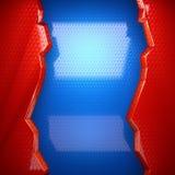 Fondo rojo y azul del metal Fotos de archivo