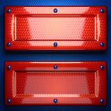 Fondo rojo y azul del metal Fotos de archivo libres de regalías