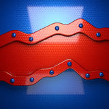 Fondo rojo y azul del metal 3D rendido stock de ilustración