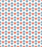 Fondo rojo y azul del modelo del corazón Imagen de archivo libre de regalías