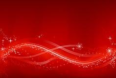 Fondo rojo y blanco abstracto de Chrismas Foto de archivo libre de regalías