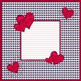 Fondo rojo y blanco de los corazones Foto de archivo