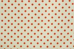 Fondo rojo y blanco de punto de polca Fotos de archivo libres de regalías