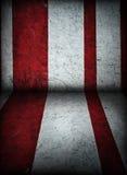 Fondo rojo y blanco de tienda de circo Imagenes de archivo