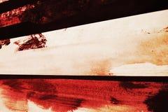 Fondo rojo y blanco vivo de la pintura al óleo Foto de archivo