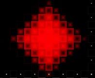 Fondo rojo y negro abstracto Ilustración del Vector