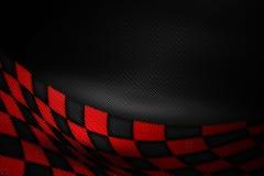 Fondo rojo y negro de la fibra de carbono fotos de archivo libres de regalías