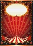 Fondo rojo y negro del circo Foto de archivo