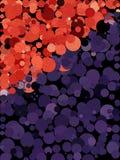 Fondo rojo y púrpura del punto con la línea textura de la forma libre del arte Fotos de archivo