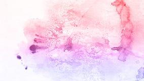 Fondo rojo y rosado dibujado mano abstracta de la acuarela, illustrati de la trama Imagenes de archivo