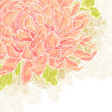 Fondo romántico con el crisantemo stock de ilustración