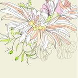 Fondo romántico con las flores Imagenes de archivo