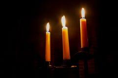 Fondo romántico con las velas Foto de archivo
