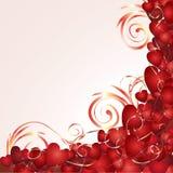 Fondo romántico con los corazones ilustración del vector