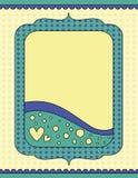 Fondo romántico con los corazones y los puntos Imagen de archivo libre de regalías