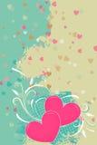 Fondo romántico de la tarjeta del día de San Valentín Imagen de archivo