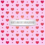 Fondo romántico de la tarjeta del día de San Valentín fotos de archivo libres de regalías
