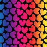 Fondo romántico del arco iris con los corazones Imagen de archivo libre de regalías